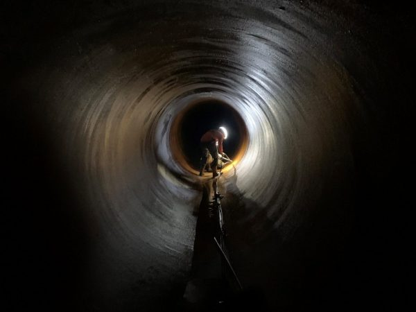 FPL U3 Circ Water Pipe Dewater and Inspection
